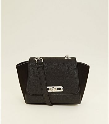 Black Winged Chain Cross Body Bag by New Look