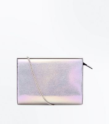 Multi Coloured Holographic Chain Shoulder Bag