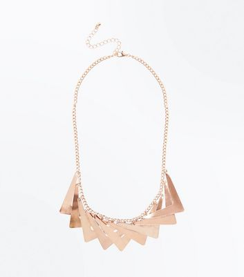Rose Gold Chunky V Layered Necklace