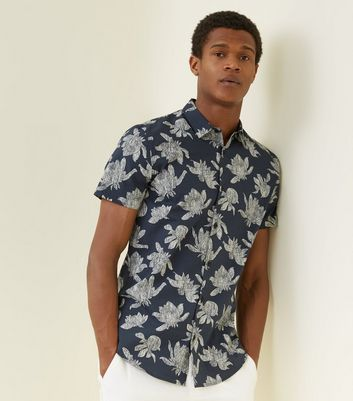 Blue Jelly Fish Print Shirt
