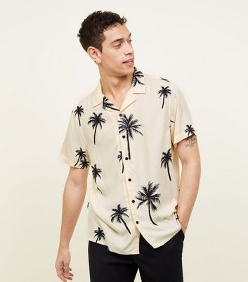 Off White Palm Print Shirt by New Look