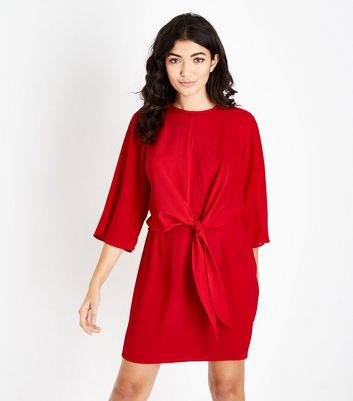 AX Paris Red Tie Front Mini Dress