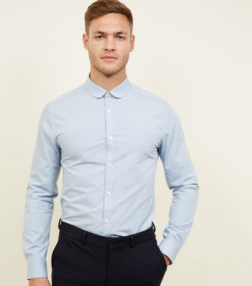 Blue Poplin Penny Collar Shirt