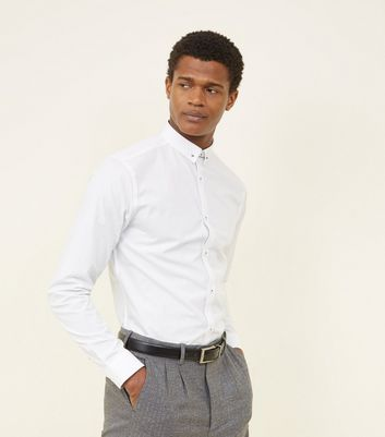 White Tie Bar Poplin Shirt