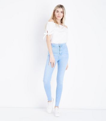 Tall Pale Blue High Waist Super Skinny Jeans