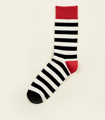 Red Block Stripe Socks