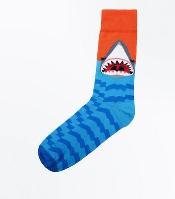 Blue and Red Shark Socks