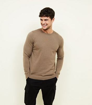 Camel Crew Neck Jumper