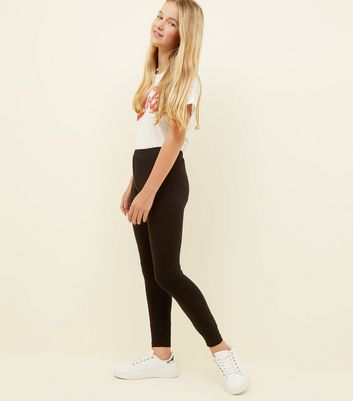 Teens 2 Pack Black High Waist Leggings