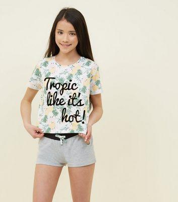 New Look Teens Tropic Like Its Hot Pyjama Set 1