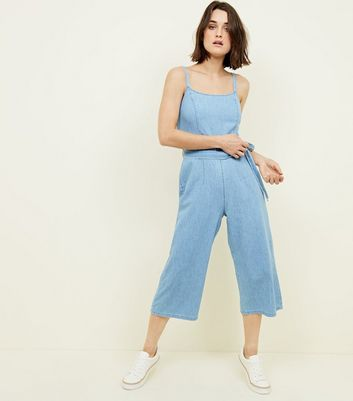 Bright Blue Lightweight Denim Jumpsuit