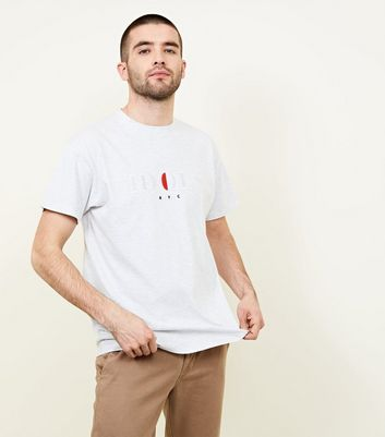 Grey Idols Embroidered T Shirt by New Look