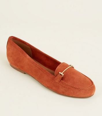 Mocassins rouge brique en daim