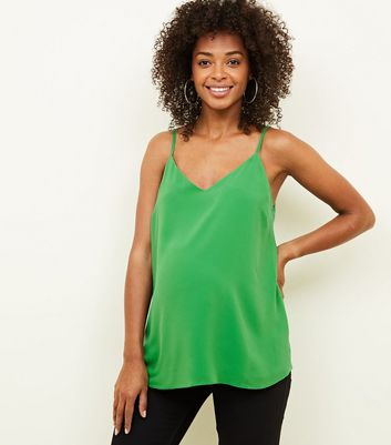 Maternity Green Strappy Back Cami