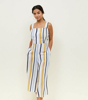 Discount Release Dates Buy Cheap Authentic Womens Stripe Linen Jumpsuit New Look Outlet Store For Sale qH5bAq