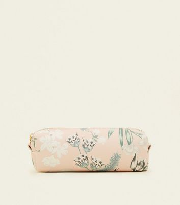 Pink Floral Pencil Case by New Look