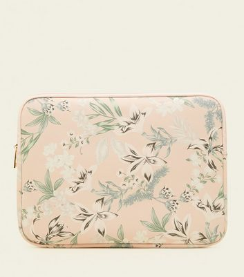 Nude Floral Laptop 13 Inch Case