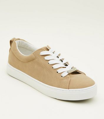 Teens Mink Lace Up Chunky Sole Trainers