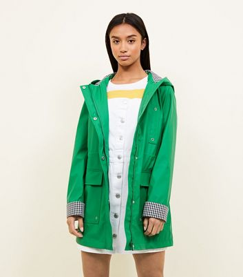 Petite Green Gingham Lined Anorak