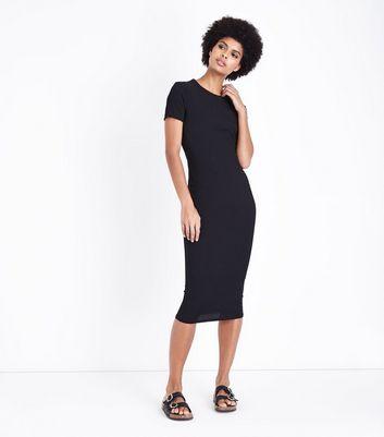 New Look Ribbed T-Shirt Midi Dress Wide Range Of Online uSkn5