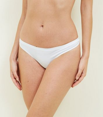 3 Pack White Seamless Thongs
