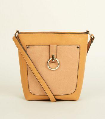New Look - Mustard Contrast Ring Front Bucket Bag - 1
