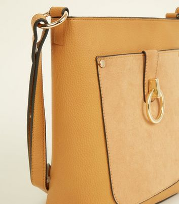 New Look - Mustard Contrast Ring Front Bucket Bag - 3