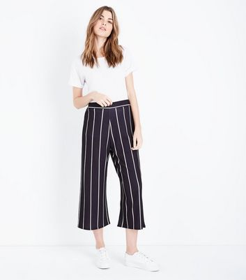 Cameo Rose Black Stripe Culottes
