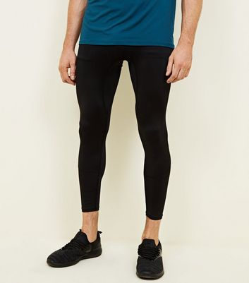 Black Sports Stretch Running Tights
