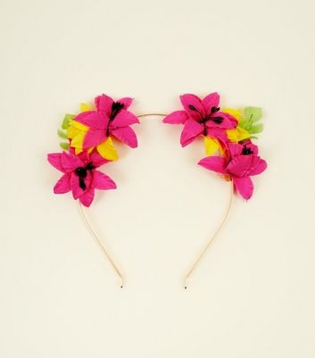 Multicoloured Flower Cat Ears