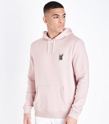 Pink Eagle Embroidered Hoodie