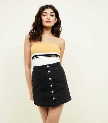 Mustard Colour Block Bandeau Top by New Look