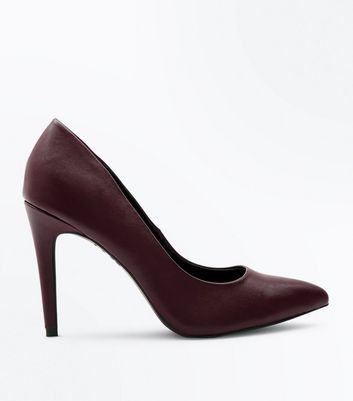 Dark Brown Pointed Stiletto Heel Court Shoes