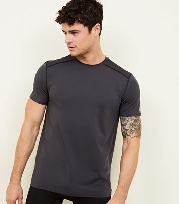 Dark Grey Sports Stretch T-Shirt