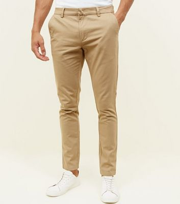 Mink Half Elasticated Slim Fit Trousers