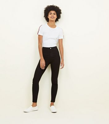 Tall   Jean Super Skinny Noir Taille Haute by New Look