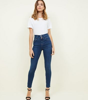 Blue High Waist Super Skinny 'Lift & Shape' Jeans