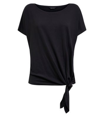 New Look - Black Tie Side T-Shirt - 4