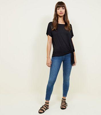 New Look - Black Tie Side T-Shirt - 2