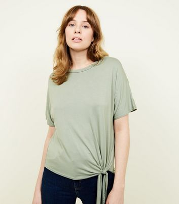 Olive Tie Side Top