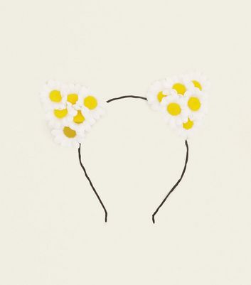 White Daisy Cat Ears