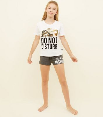 Girls Do Not Disturb Slogan Pyjama Set