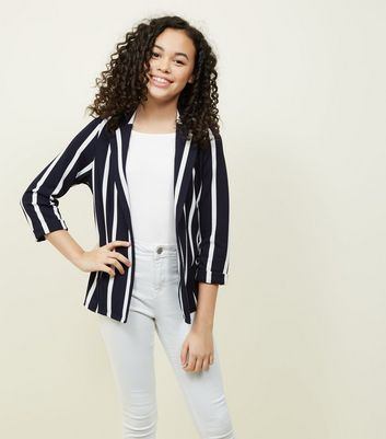 Teens Navy Stripe Blazer