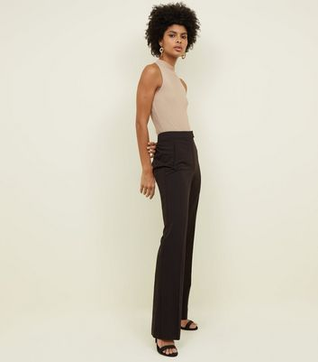 Tall Black Wide Leg Trousers