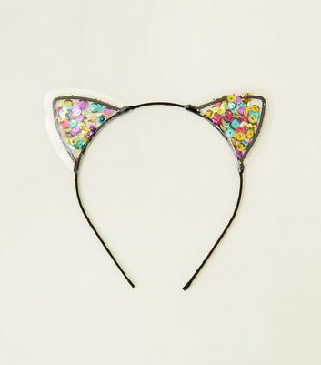 Multicoloured Shake It Sequin Cat Ears