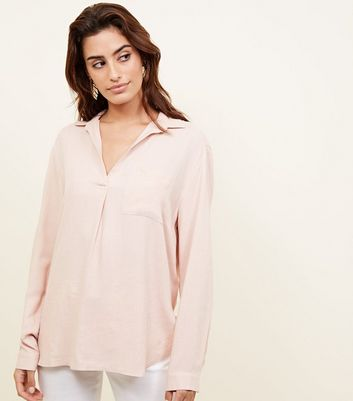 Pale Pink Woven Overhead Shirt