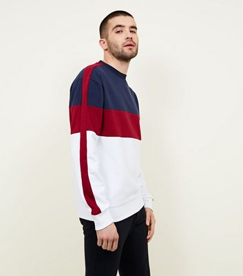 Burgundy Colour Block Sweatshirt