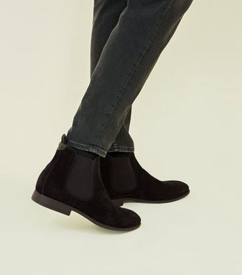 4836cdb163a2f Shoptagr | Black Faux Suede Chelsea Boots by New Look