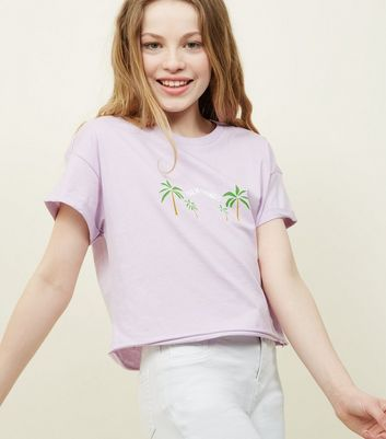 Teens Lilac Palm Springs T-Shirt