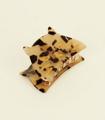 Brown Leopard Print Bulldog Clips